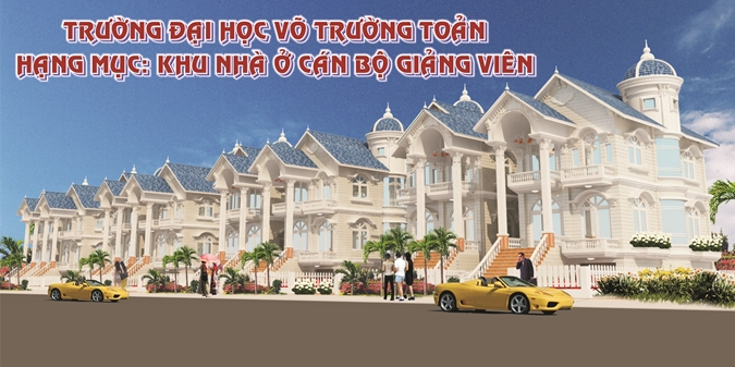 The project of Residental zone of Vo Truong Toan University